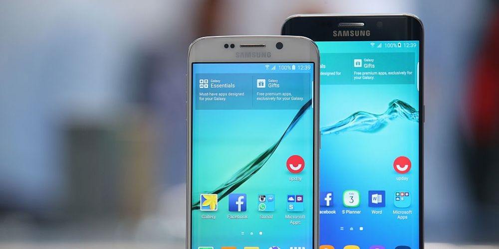 Samsung Galaxy phones. Photo: Getty