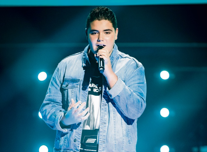 Grand finalist Jordan Anthony on The Voice season 8.