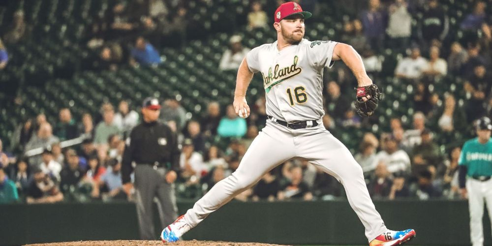Hendriks on the mound. Picture: Oakland Athletics