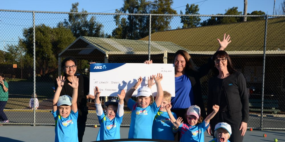 Mt Lawley Tennis Club members at the ANZ Grant presentation.