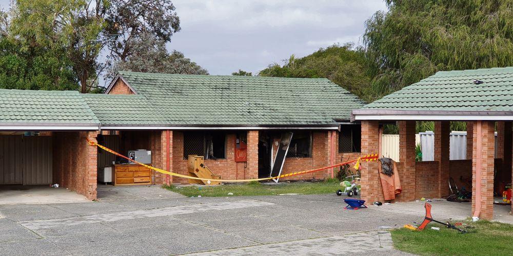 A Koondoola unit was damaged by fire. Picture: David Baylis