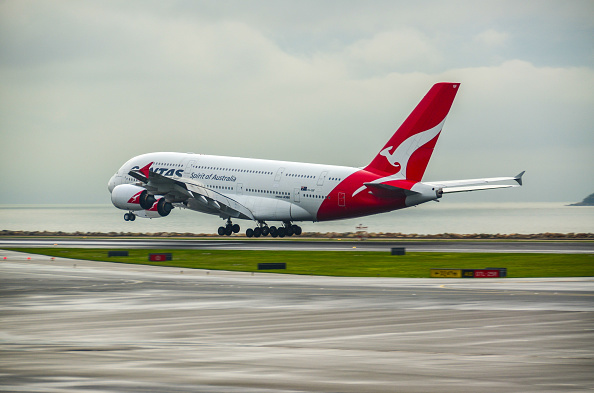 An Airbus A380 aircraft operated by Qantas. Picture: Stefan Irvine/LightRocket via Getty Images