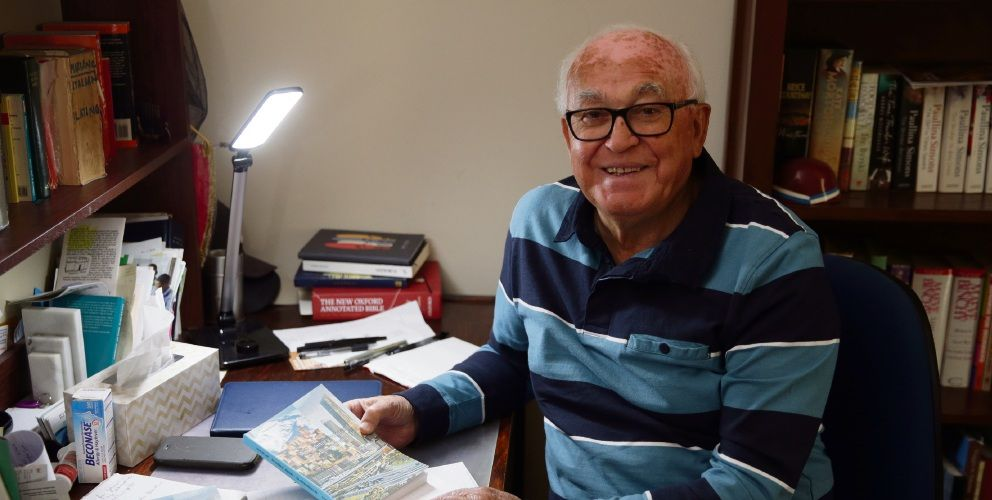 Former languages teacher Nicola Di Lello, of Balcatta, has penned his life story. Picture: Martin Kennealey d493515