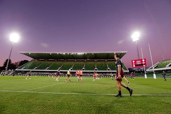 Queensland Maroons State of Origin training session at HBF Park on June 19, 2019. Picture: Will Russell/Getty Images