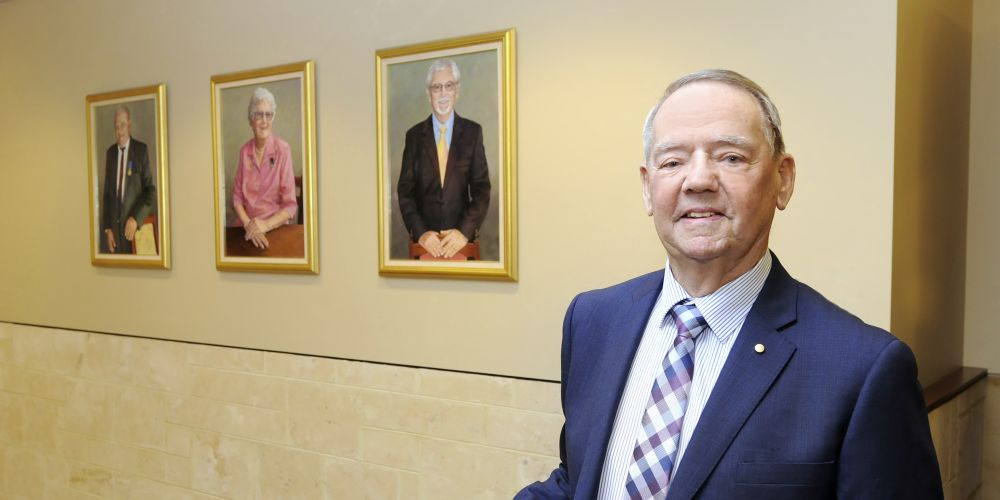 Brian Cooper has become the fourth Freeman of the City of Joondalup. Picture: Chris Kershaw