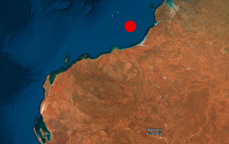 An earthquake of a magnitude of 6.5 has hit off the West Australian coast. Picture: Geoscience Australia