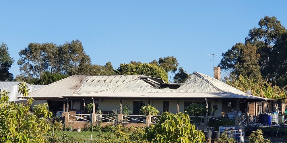 The aftermath of a house fire in Gnangara. Photo: David Baylis