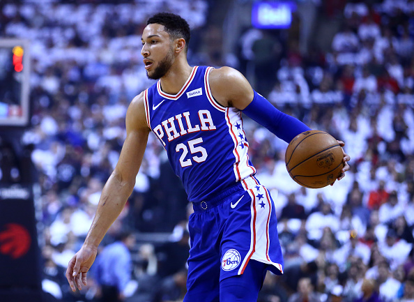 Ben Simmons of the Philadelphia 76ers dribbles the ball. Picture: Vaughn Ridley/Getty Images