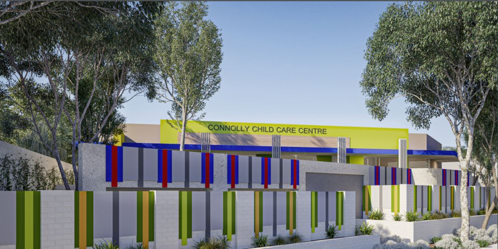 Artist impressions of a proposed Connolly childcare centre.