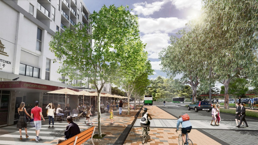 An artist's impression of plans for Cecil Avenue in Cannington.