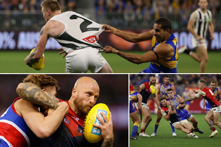 Why would the AFL want to reduce tackling? Photos: Getty