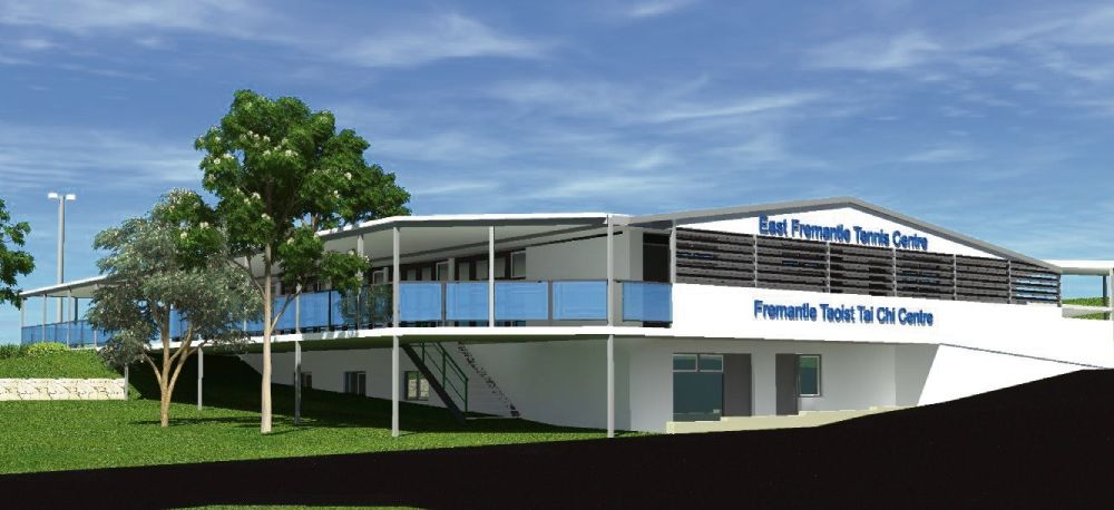 An artist's impression of the proposed East Fremantle Tennis Club redevelopments.