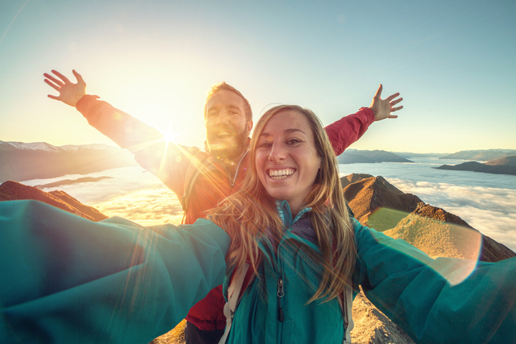 Risky selfies are proving to be the latest danger for the nation's travellers with research showing a fifth of Aussies will take a risk to get the perfect snap. Picture: Getty