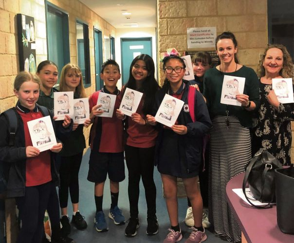 East Butler Primary School students created a book in a day to support The Kids' Cancer Project.