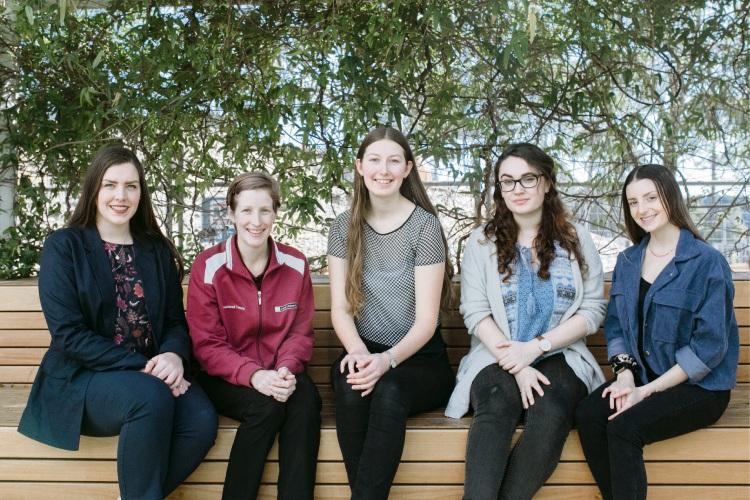 Monique Rose, Donna Giles, Catriona Garratt, Rosie McClure and Evangeline Economidis.