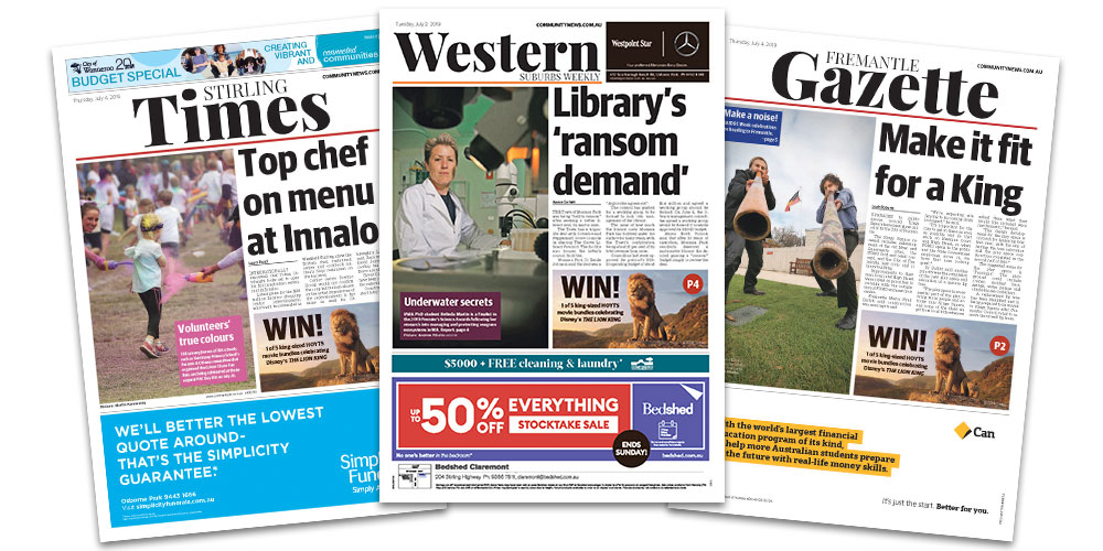 Find your local newspaper in Perth
