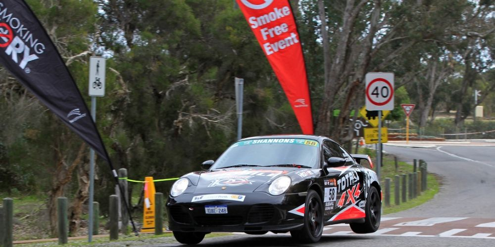 Peter major out front in his Porsche.  Picture: Barnsiesphotos