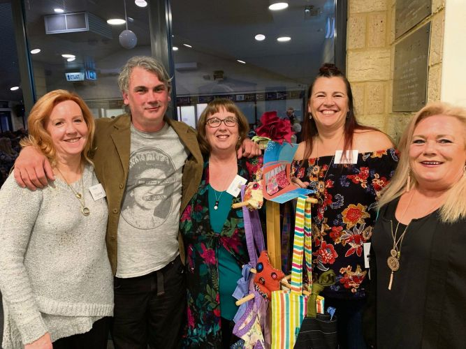 Dianne Woodley (Karingal), Gareth Leach (Work for the Dole), Brigitte Doohan (Karingal), Joanne Griffiths  (Karingal) and Dale Mulvey (PeelConnect).