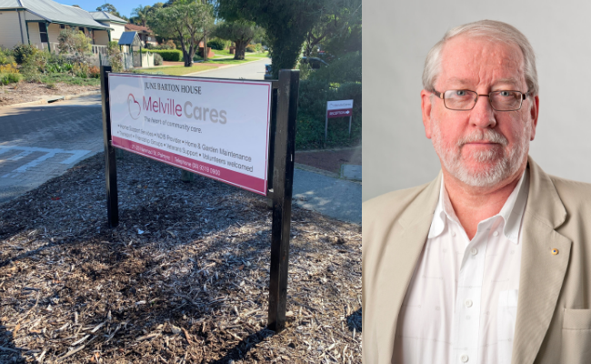 Melville Care's office in Palmyra and Ian Carter.