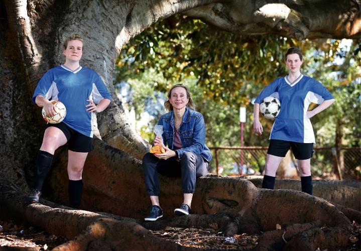 Molly Earnshaw (Victoria Park), Alison van Reeken (St James) and Elise Wilson (North Perth). Picture: David Baylis d494890