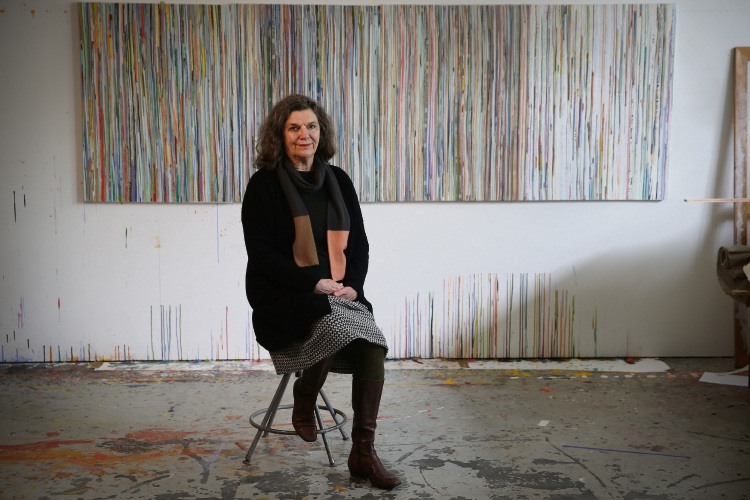 d494997 White Gum Valley artist Eveline Kotai at her home studio. Picture: Andrew Ritchie