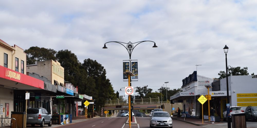 Bayswater town centre businesses. Picture: Kristie Lim