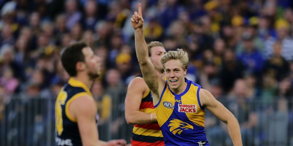 Oscar Allen was the Round 21 AFL Rising Star nominee. Picture: Will Russell/AFL Photos via Getty Images
