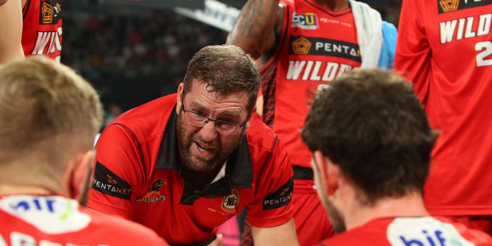 Wildcats head coach Trevor Gleeson has a strong link to the Joondalup Wolves who call HBF Arena home, Picture: Graham Denholm/Getty Images