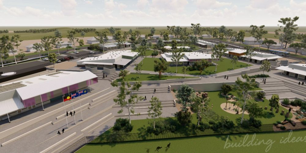 An artist's impression of Sunningdale primary school in Yanchep.