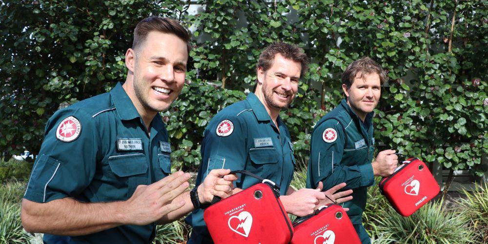 St John Heart Starters: Andrew Wishart, Jerem Anderberg and Nathan Hayne. Photo: supplied