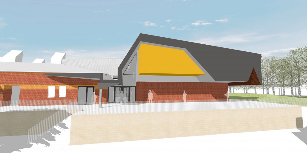 An artist's impression of the Belridge Secondary College performing arts centre.