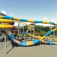 An artist's impression of the waterslides being built at Perth's Outback Splash.