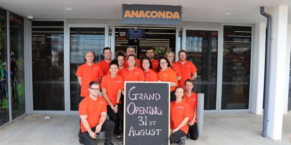The Anaconda Butler store will open on August 31.