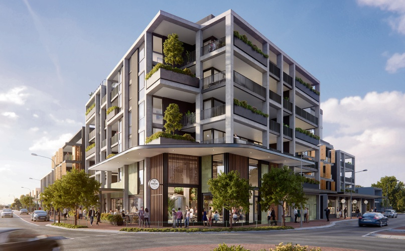 An artist's impression of the soon-to-be complete Vic Quarter development.