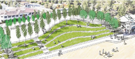 Laying down the lawn in lastest revamp for Cottesloe Beach