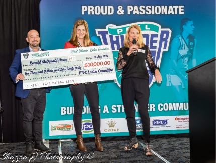 Corinn Ditchburn proudly presents the cheque. Photo by Shazza J Photography