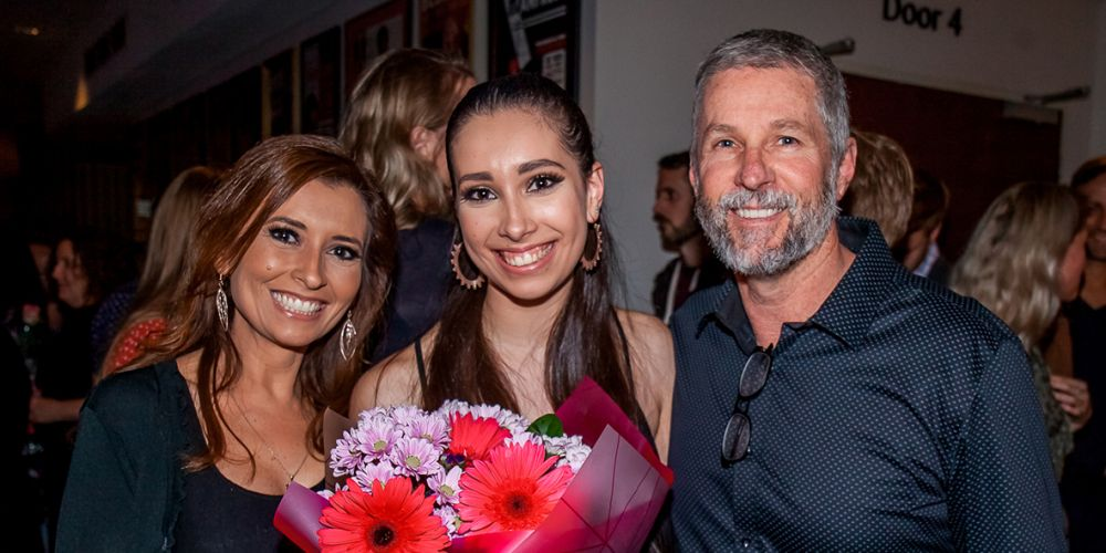 Lucy, Aly and Mark Byrne.