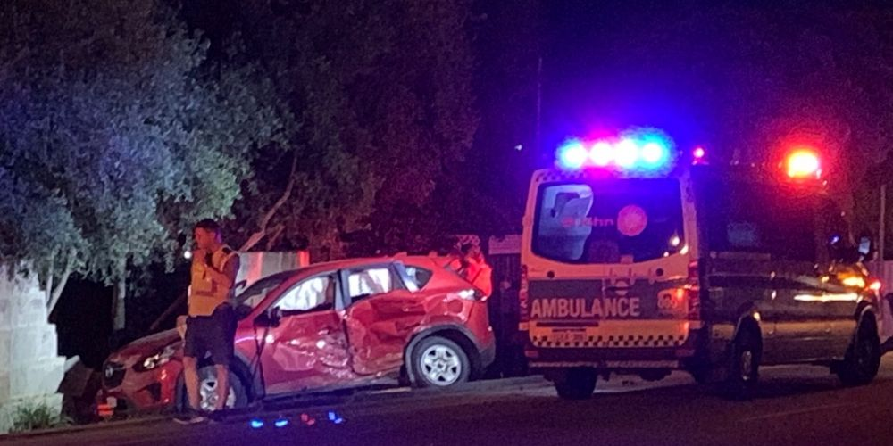 Perth driver's lucky escape after crash into wall