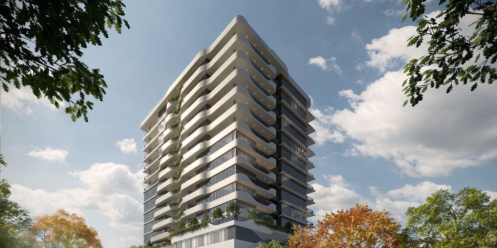An an artist's impression of the 15-storey development.