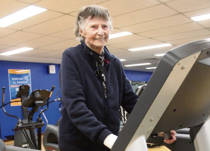 Legend Viv is a fitness fanatic at 102