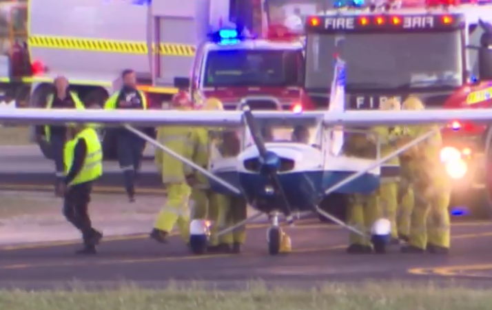 The plane after it landed.