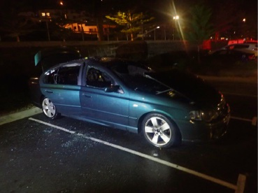 Police are appealing for information after this car was set on fire.