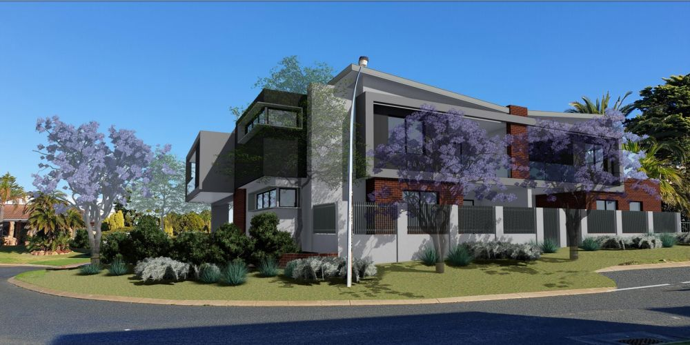 Artist impressions of the proposed apartments at 4 Cromer Grove, Kallaroo.