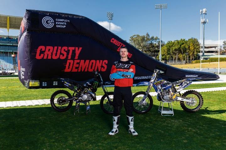 Crusty Demons rider Brayden Davies. Picture: Brandon Voight