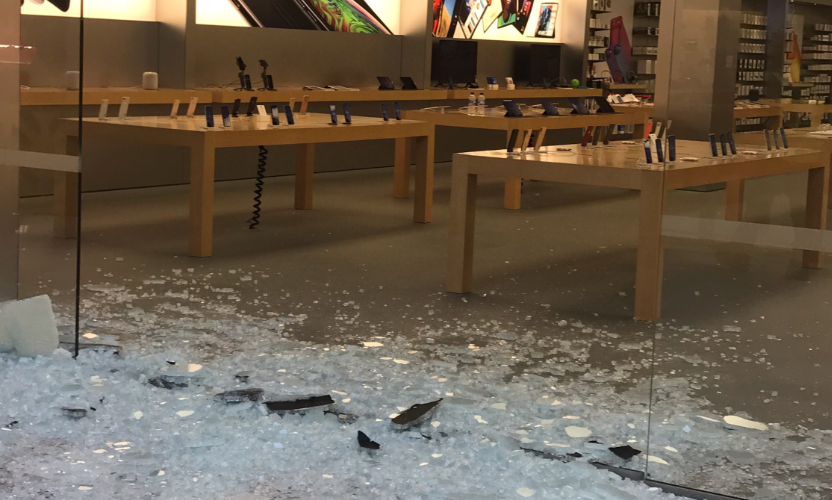 The Apple store in Perth CBD was raided.
