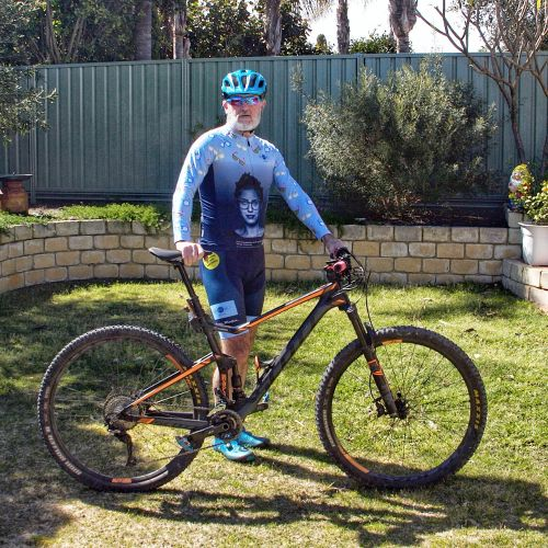 Peter Campbell is preparing to take on his 11th Dwellingup 100 mountain bike race.