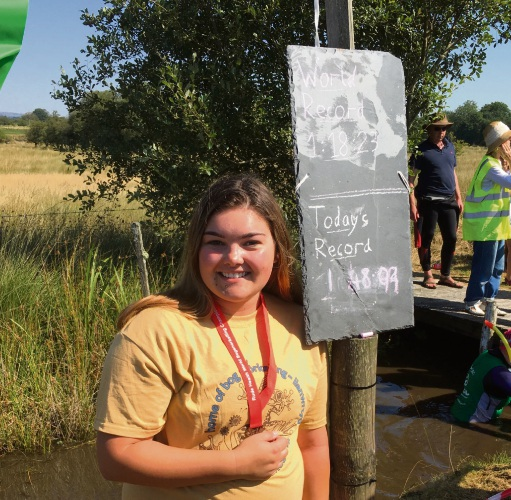 Mandurah girl in World Bog Snorkelling comp