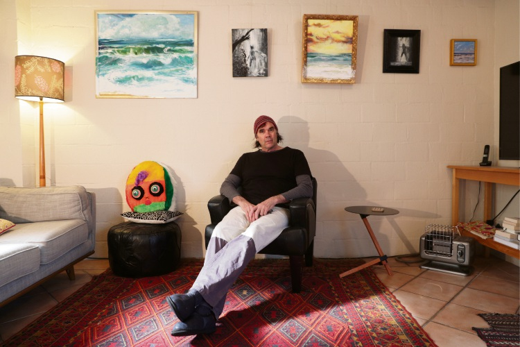 d495457 Fremantle artist Robbie Porritt latest's exhibition is called Wild Waves, Women and Waterfalls. Picture: Andrew Ritchie