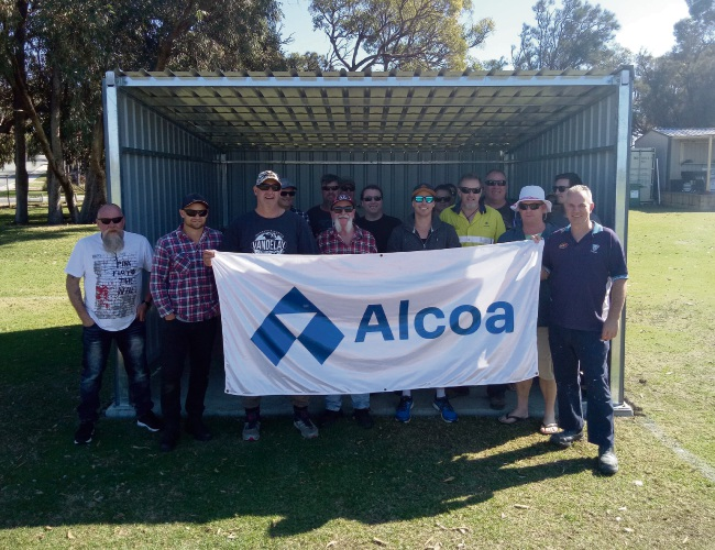 Alcoa volunteers provide Halls Head FC with new dugouts