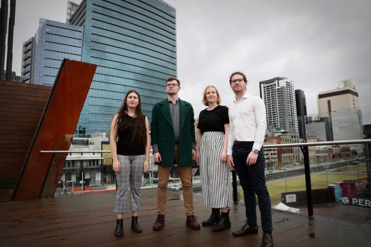 Voyces singers Kristina Lang (Attadale), Kieran Lynch (Maylands), Lydia Gardiner (Applecross) and Joshua Adams (Maylands). Picture: Andrew Ritchie d495398